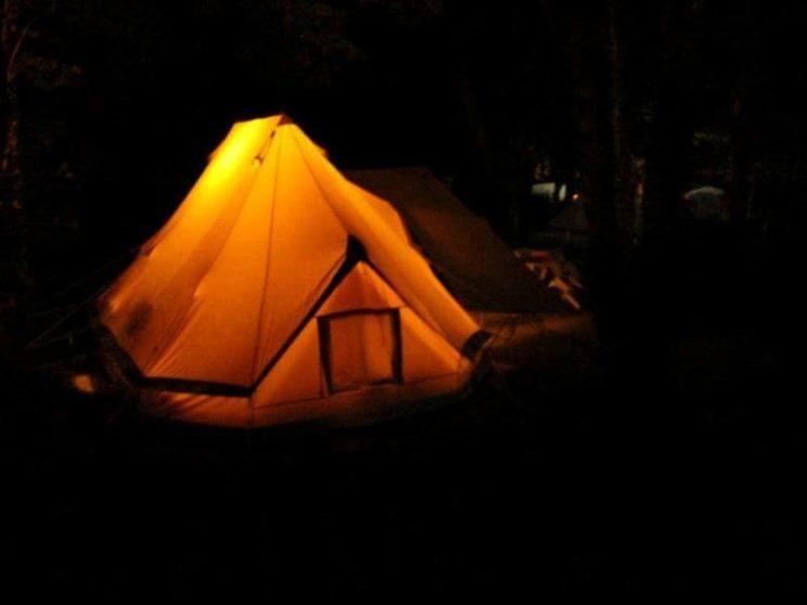 Tente Sahara nuit