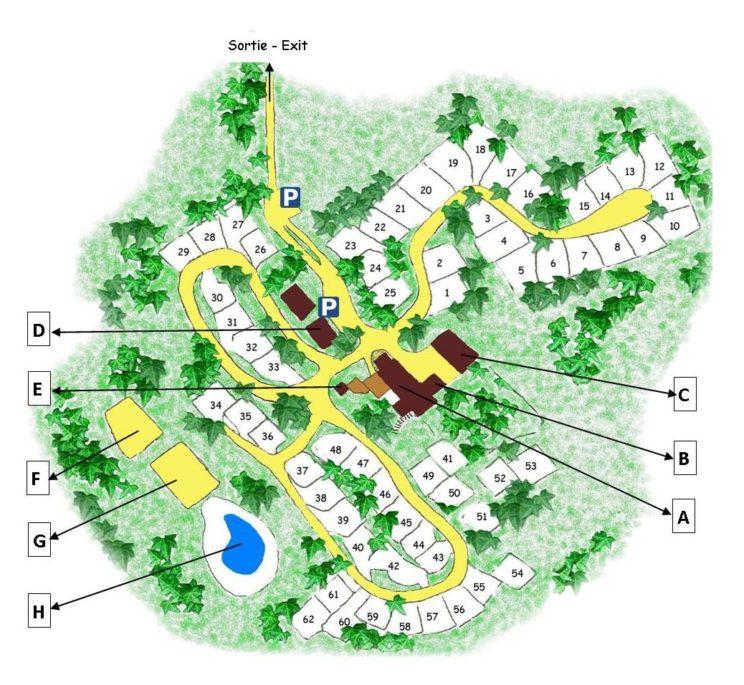 Plan Camping La Grande Veyière